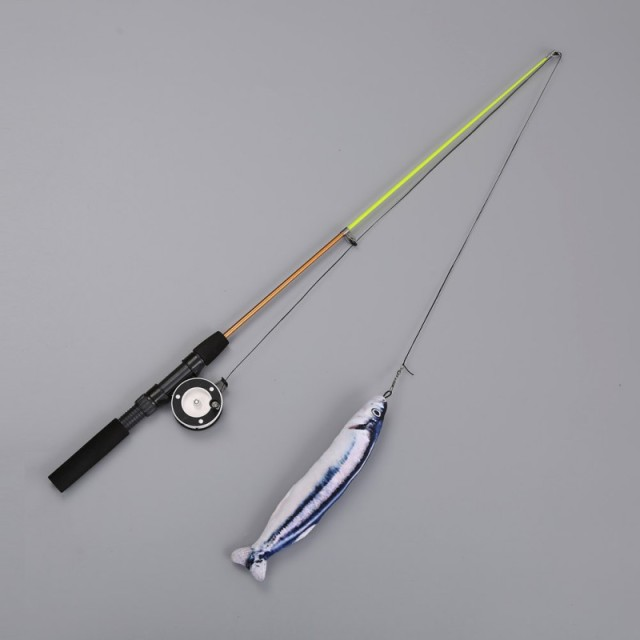 Retractable Fishing Rod Cat Toy 2