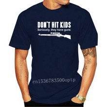 New 2020 Funny T Shirt Men Hot DON'T HIT KIDS T-shirt / Funny / Guns / Sniper / COD / Riffle / Xmas / All Sizes Casual T Shirts