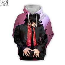 PLstar Cosmos Pop King Michael Jackson casual colorful 3DPrint Hoodie/Sweatshirt/Jacket/shirts Mens Womens hip hop Spacewalk s-5