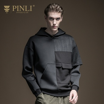 Palace Moleton Masculino Pinli Product Made The New Winter 2019 Men's Clothing Jacquard Sets Splicing Young Hooded B194209362