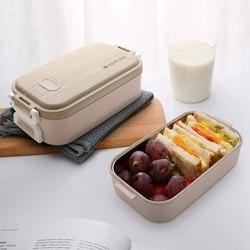 Pudełko na lunch z pojemnik ze stali nierdzewnej pudełko na lunch z 3 poddziałami do szkoły pracy piknik podróż w podróży różowy w Pudełka śniadaniowe od Dom i ogród na