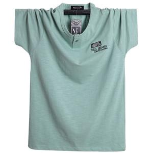 Image 2 - Além de tamanho 5xl 6xl homens grande altura camiseta mangas curtas oversized t camisa de algodão masculino grande t camisa de verão apto t verão topos t