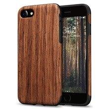Luxury Wood Grain Phone Case for iPhone 7 8 6 6S Plus Hybrid Soft TPU