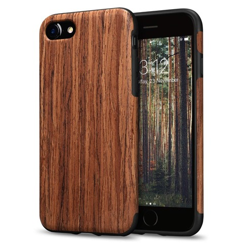Luxury Wood Grain Phone Case for iPhone 7 8 6 6S Plus Hybrid Soft TPU Silicone Slim Back Cover Case for iPhone X XS MAX XR Coque Pakistan