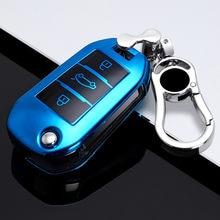 Чехол для автомобильного ключа с 3 кнопками, чехол для Peugeot 107 308sw 407 208 508 408 2018 для Citroen C4 CACTUS C5 C4L, аксессуары