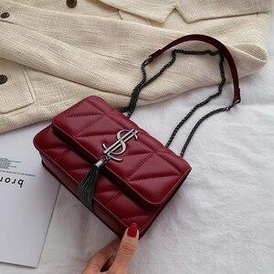 Image 3 - 2020 Luxury Famous Brand Women Bags Designer Lady Classic Plaid Shoulder Crossbody Bags Leather Women Messenger Handbags