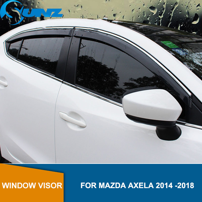 Side window deflectors For Mazda 6 ATENZA 2014 2015 2016 2017 2018 Door visor protector rain guard accessories Car Styling SUNZ-in Awnings & Shelters from Automobiles & Motorcycles