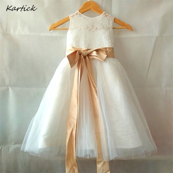 Lovely Princess Flower Girl Dresses with Sashes Little Girls Kids/Children Dress for Wedding Ball Party Pageant Communion Dress lovely princess flower girls dresses with bow long pageant dress kids party dress ball gowns pink custom made