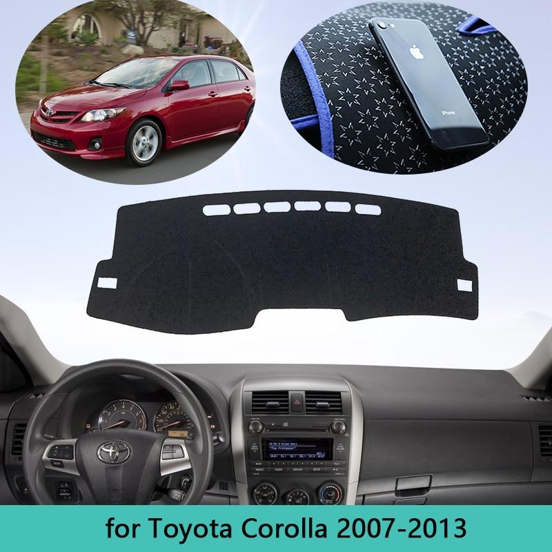 for Toyota Corolla E140 E150 2007 2013 Mat Dashboard Cover Car Accessories Pad Sunshade Dashmat Carpet 2008 2009 2010 2011 2012