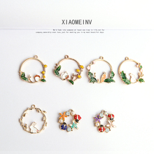 10pcs College Style Sweet Cute Earrings For Women Fashion Jewelry Simple Colourful Lovely Garland Shape Rabbit Radish Earrings 2019 new hot fashion cute lovely rabbit feautiful popular simple personalidad casual key chains 6096
