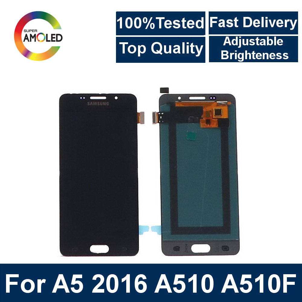 AMOLED liquid crystal display Suitable for <font><b>Samsung</b></font> Galaxy A5 2016 <font><b>A510F</b></font> A510M A510FD A5100 A510Y <font><b>LCD</b></font> touch screen digitizer comp image