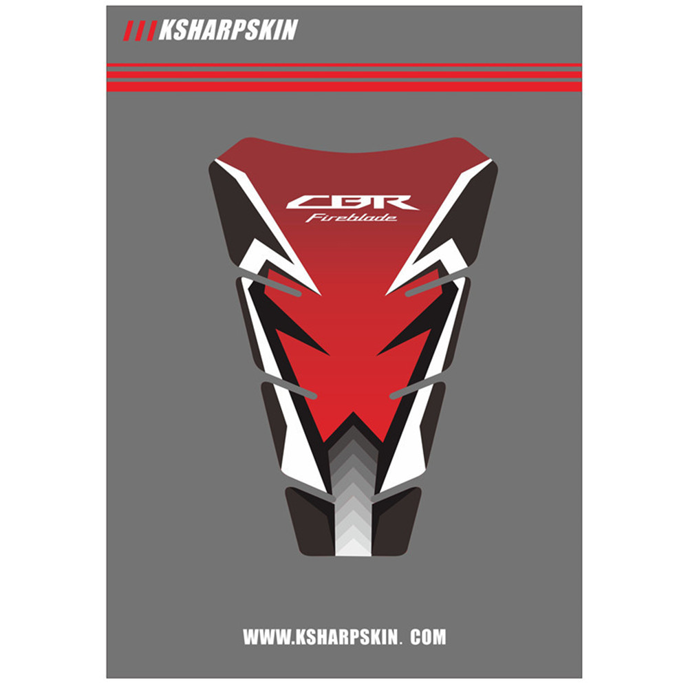 Motorcycle Sticker Fish Bone Stickers Scratch Protection Stickers Fuel Tank Decals For HONDA CBR