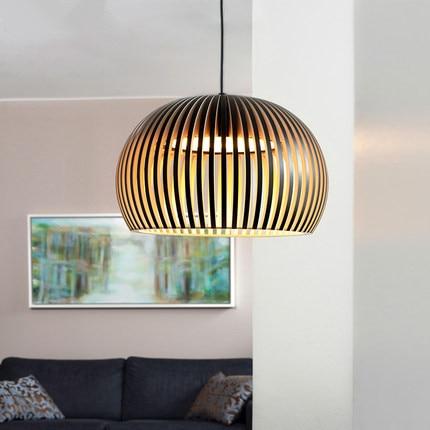 Modern Solid Wood E27 Bulb Pendant Lamp Japanese Style Wooden Pendant Light For Home Decor Dinning Room Pendant Light Fixture