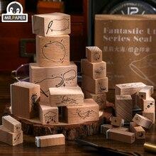 Mr Paper Star Sea Series Seal Wooden Rubber Stamp for Scrapbook DecoDIY Craft Standard Wooden Stamp