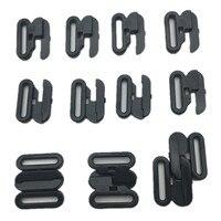1000 sets mum bra plastic buckles handmade ribbon adjustable diy material bra underwear straps hook clasp slide clips