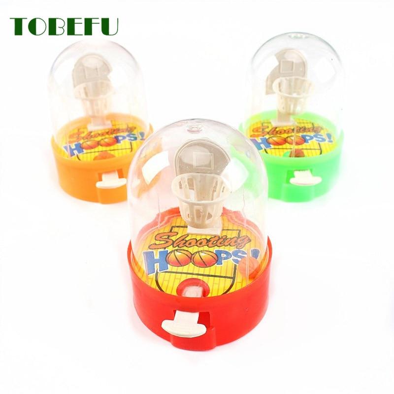 TOBEFU Developmental Toy Handheld Basketball Machine Anti-stress Player Basketball Shooting Toys For Children Educational Gift