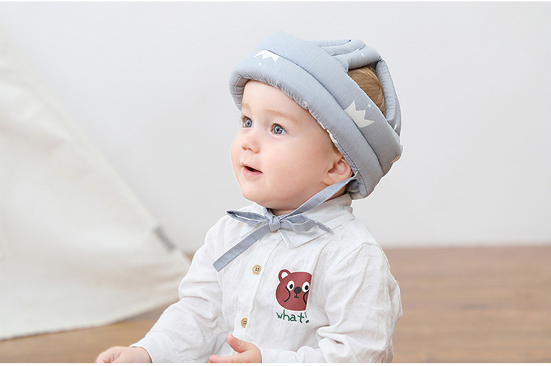 Adjustable Baby Hat Protective Anti-collision Safety Helmet Baby Cap Toddler Kids Hat for Girl Boy Accessories Cotton Mesh 6M-5Y 11