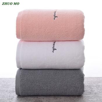 ZHUO MO egipska bawełna ręczniki dla dorosłych słodkie litery miękkie haftowane ręcznik kąpielowy do twarzy łazienka prezent na przyjęcie bociankowe dla miłośników ręczniki tanie i dobre opinie Zestaw ręczników Zwykły Tkane Plac 110-670g M-032 Można prać w pralce Sprężone Quick-dry 5 s-10 s Stałe 100 bawełna