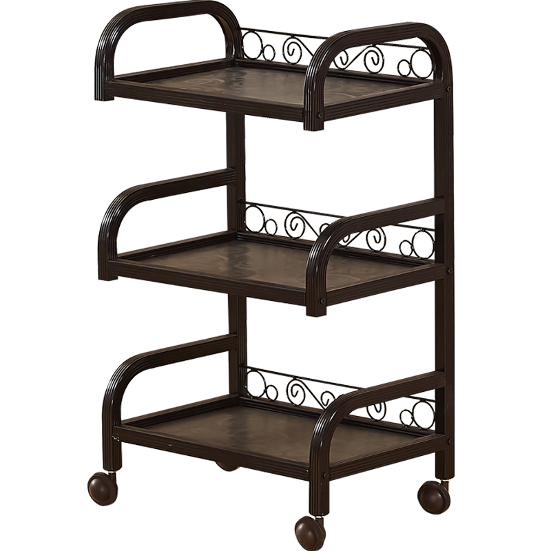 Hairdressing Iron Art Three Floor Beauty Salon Trolley Manicure Tattoo Mobile Tool Cart Shelf