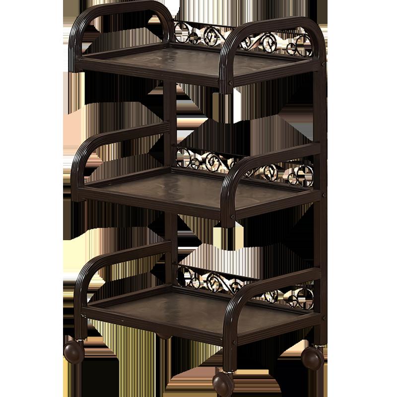 Hairdressing Iron Art Three Floor Beauty Salon Trolley Manicure Tattoo Mobile Tool Cart Shelf