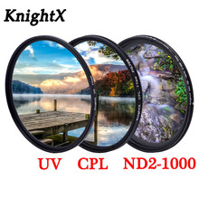 Цветной фильтр KnightX Grad UV CPL Star, переменный объектив для canon sony nikon d80 d70 d3300 700d 1300d 49 52 55 58 62 67 72 77 мм