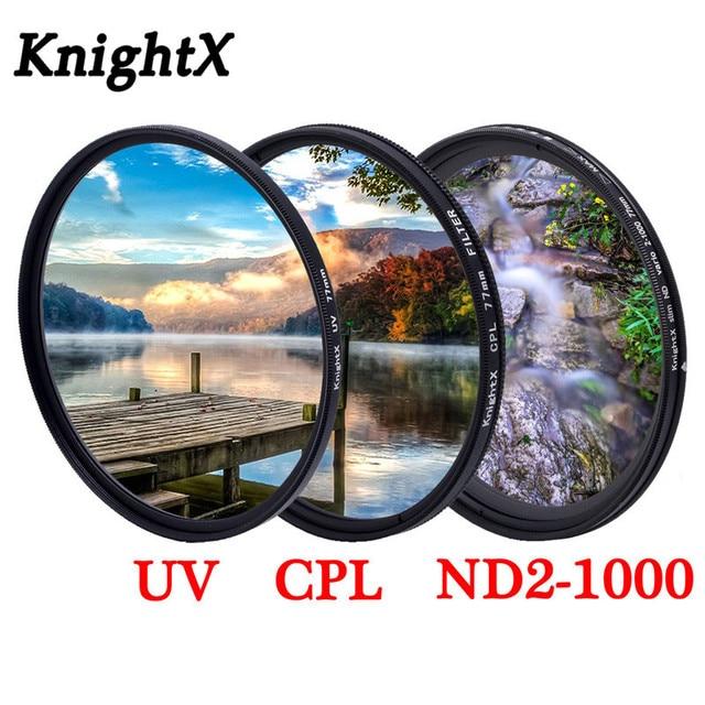 KnightX Grad farbe filter UV CPL Stern variable Objektiv Für canon sony nikon d80 d70 d3300 700d 1300d 49 52 55 58 62 67 72 77 mm