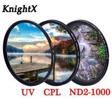 KnightX Grad renk filtresi UV CPL yıldız değişken canon lensi sony nikon d80 d70 d3300 700d 1300d 49 52 55 58 62 67 72 77 mm