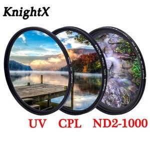 Image 1 - KnightX グラッド色フィルター UV CPL スター可変レンズ sony nikon d80 d70 d3300 700d 1300d 49 52 55 58 62 67 72 77 ミリメートル