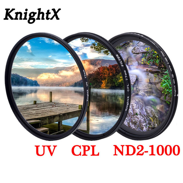 KnightX グラッド色フィルター UV CPL スター可変レンズ sony nikon d80 d70 d3300 700d 1300d 49 52 55 58 62 67 72 77 ミリメートル
