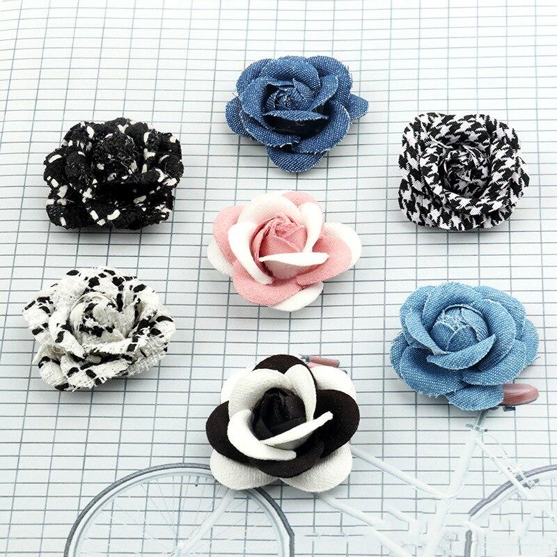 5pcs Headdress DIY Handmade Chiffon Shoes Hat Bags Flower Corsage Flowers