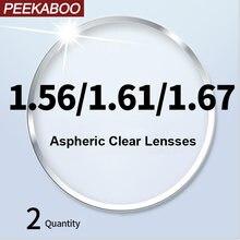 Линзы для очков с асферическим рецептом peekaboo cr 39 resin