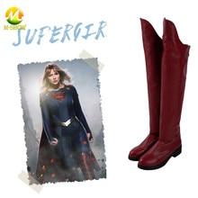 Supergirl Season 5 Costume accessory Halloween Superhero Cosplay Kara Danvers Cosplay Boots Supergirl Fancy leather shoes цена и фото
