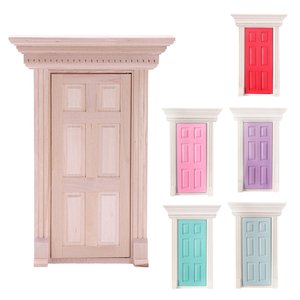 1:12 Scale Wooden Fairy Front Door Dolls House Miniature Accessory