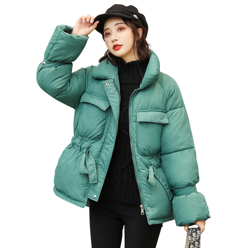 Autumn Winter Jacket Women Coat Adjustable waist Stand Female Winter Jacket Female   Parka   Warm Plus Size Overcoat Jacket   Parkas