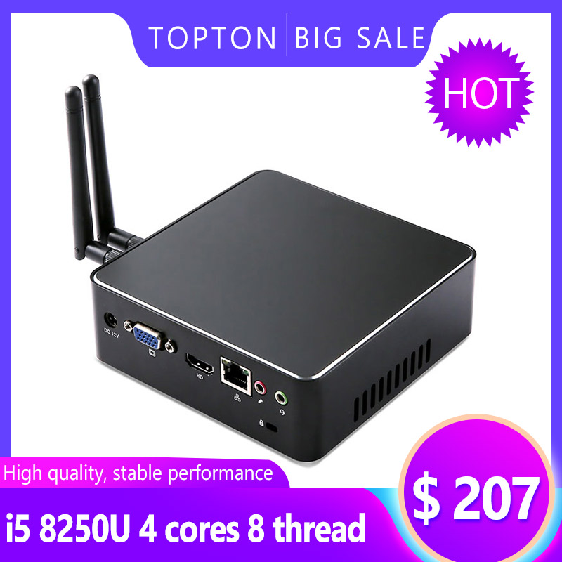 Portable Mini PC I7 7567U I5 8250U I3 8130U 8GB DDR4 1*mSATA SSD+1*2.5''SATA HD Windows 10 Nuc Graphics 4K HTPC WiFi HDMI VGA
