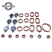 WOLFIGO 32 мм/22 мм алюминиевые поворотные заслонки Крышка коллектора прокладка комплект для BMW E46 E60 E90 E91 11617790198 11612245439 11617800585