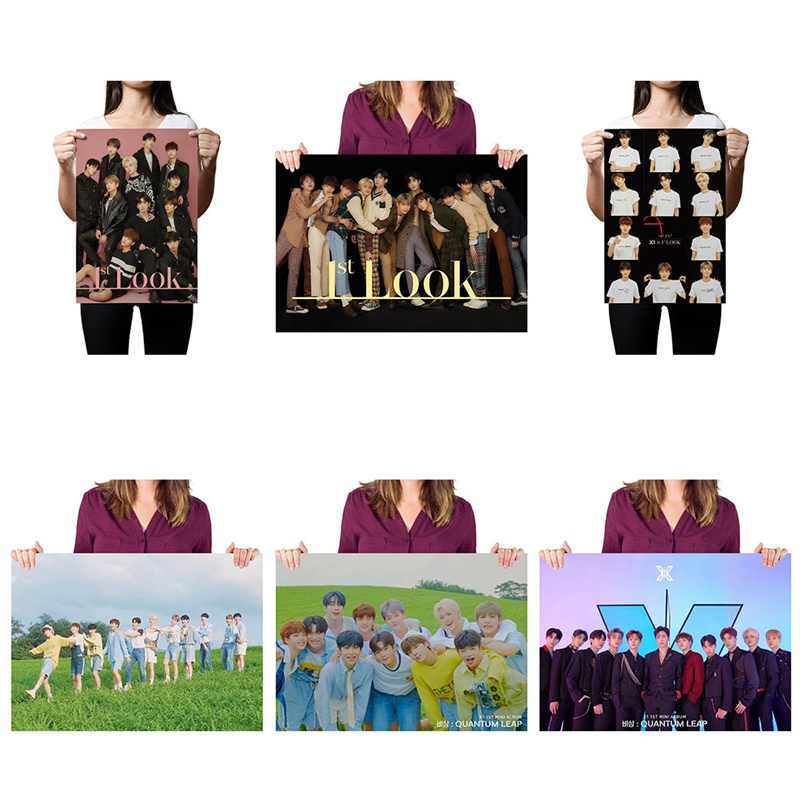 Kpop X1 Support Hand Banner Fabric Hang Up Poster For Fans Collection Gift Produce One Quantum Leap Flash