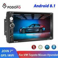 "Podofo 2din Android Car Radio 7 ""GPS Navi Wifi reproductor Multimedia 2Din autoradio para Volkswagen Toyota Nissan Hyundai CR-V"
