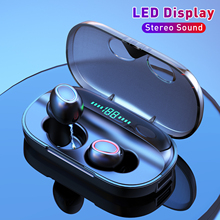 X1 Wireless Earphone Touch Control TWS Bluetooth 5.0 Earphones Stereo LED Display Sports Waterproof Headsets Dual Microphone