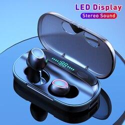 X1 belaidės ausinės su jutikliniu valdymu ir LED ekranu