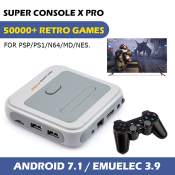 Mini Retro Video Game Console Super Console X Pro With 50000+ Classic Games,Portable Game Player For PSP/PS1/N64,4K HD Output 1