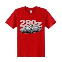 Camisa dos desenhos animados dos homens jdm datsun 280z masculino puro algodão corrida carro t-shirts de manga curta tshirt designer homem engraçado roadster camiseta