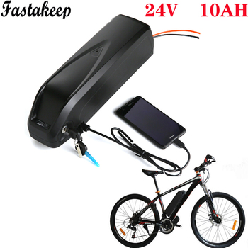 Electrónica batería de bicicleta 24v 10ah hailong bajo tubo 24v 250w batería...