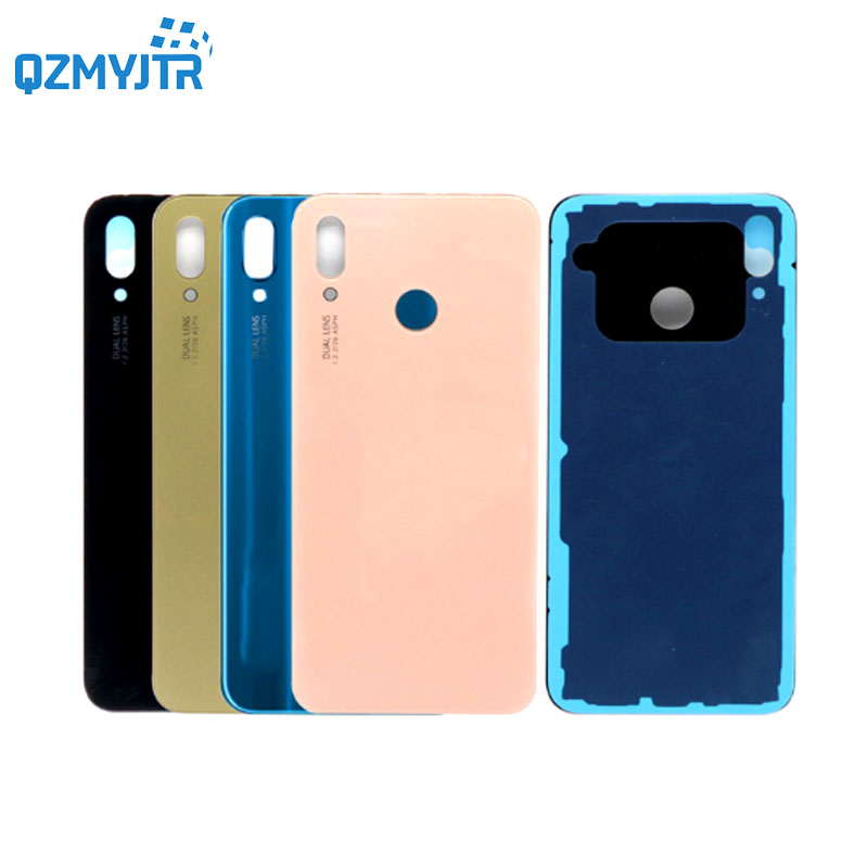 For Huawei P20 Lite Glass Back Housing Case Battery Cover For Huawei Nova 3e Rear Door Replacement Case Glossy Repair Parts