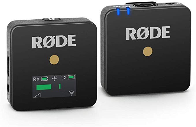 Rode Wireless GO Compact Digital Wireless Microphone System 2.4GHz With Built-in Condenser Microphone For Recording Vlog Camera