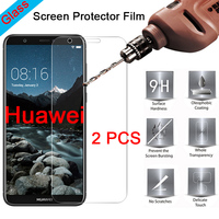 2pcs Protective Glass for Huawei Y9 2018 Y5 Y3 Pro 9H Screen Protector Hard Tempered Glass for Huawei Y6 Y7 Prime 2018 Film