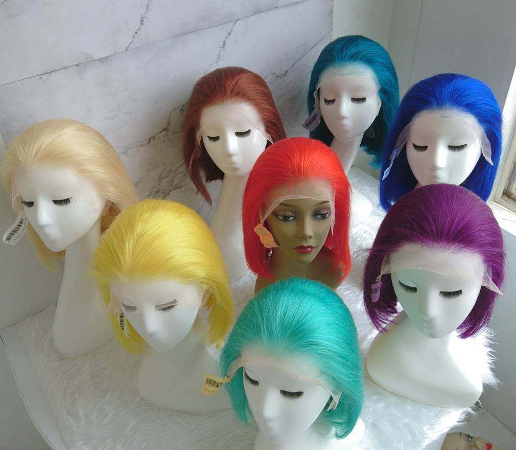 bob amarelo pré arrancadas perucas de cabelo