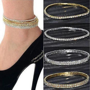 2017 Real Womens Look Stunning Diamante Rhinestone Anklet Ankle Chain For Proms Parties Or Weddings For The Bride Bridesmaid 1