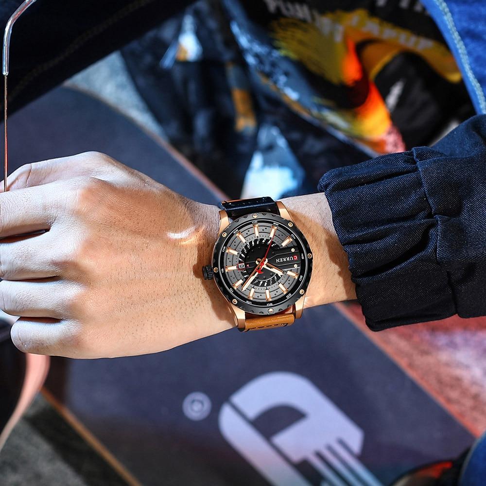 Hb8e5e330e28346f3812bd35b238c5543Y CURREN Watch Wristwatch  New Chic Luminous hands