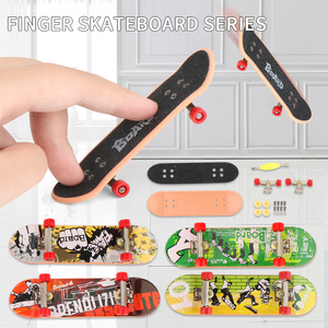 1PC Kids Children Mini Finger Board Fingerboard Skate Boarding Plastic Finger Skate Scooter Toys Children Gifts Party Favor Toy